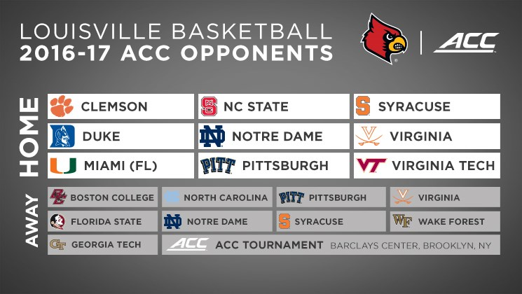 Louisville Has Challenging Acc Men S Basketball Slate For 2016 17