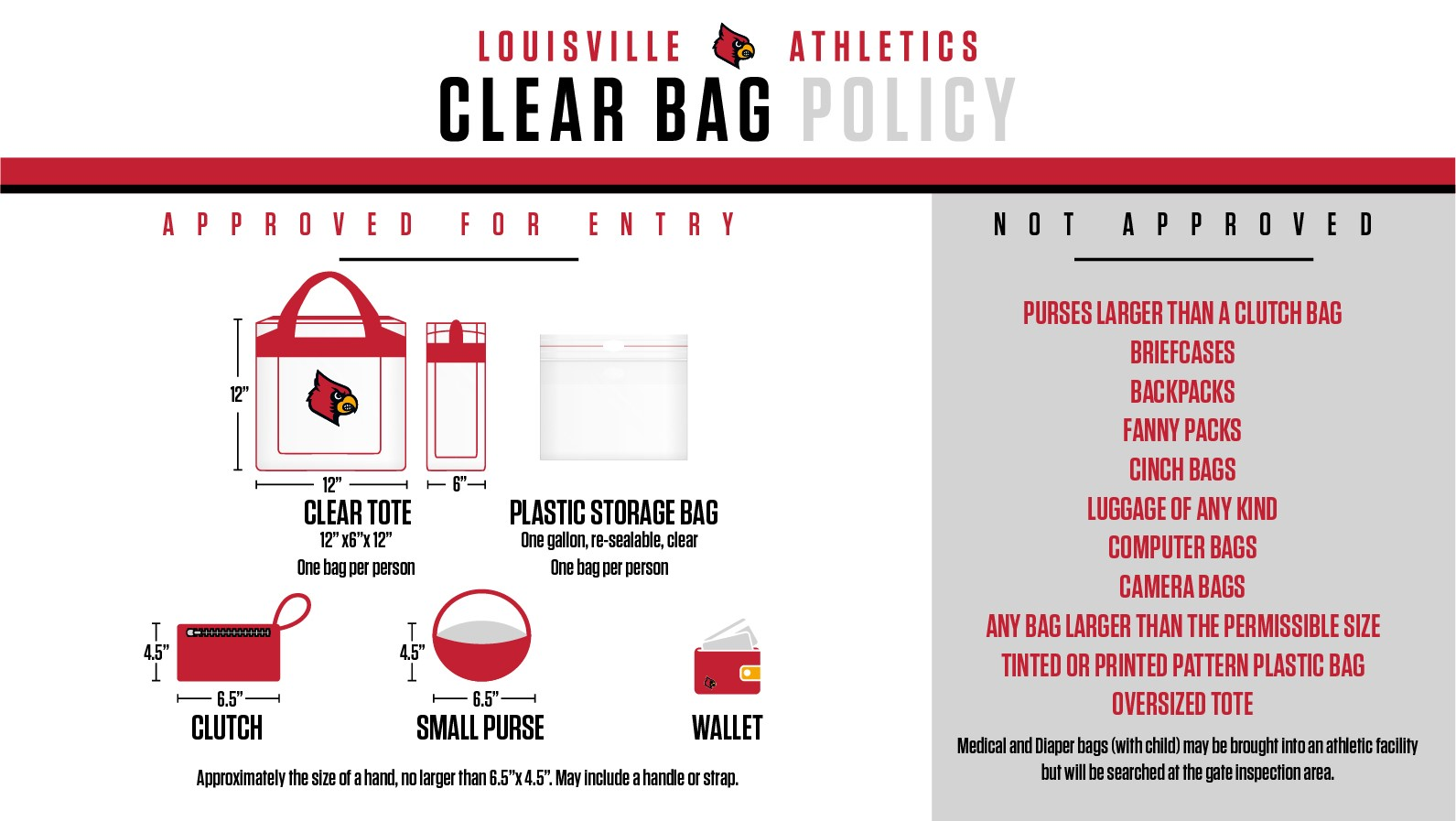 A Clear Bag Policy Remains In Place For Cardinal Stadium Fans Are Encouraged Not To Bring Any Bags Inside The However Each Ticket Holder Is
