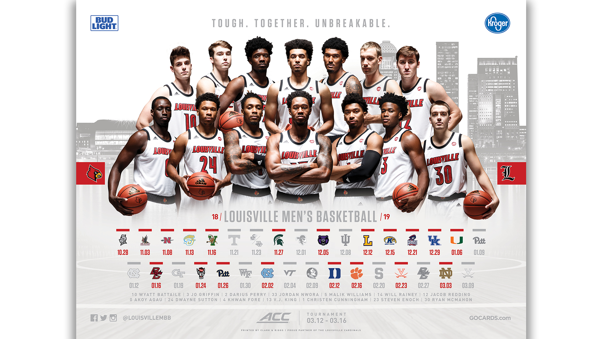 Uofl Calendar 2019 Men's Basketball Posters Available Thursday   University of